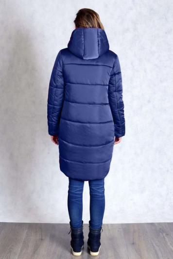 Пальто зимнее 83518 синее