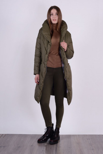Пальто зимнее 93571 защитное