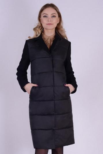 Пальто деми 99592 черное