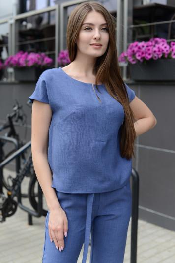 Блуза 9312 синие