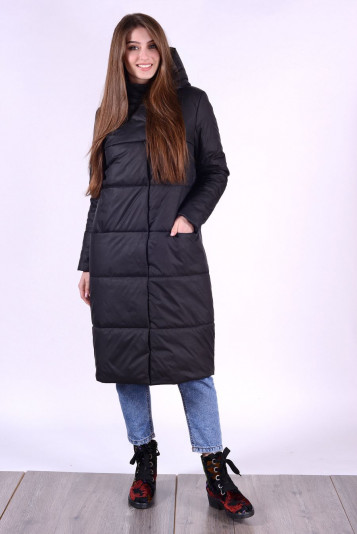 Пальто деми 93552 черное