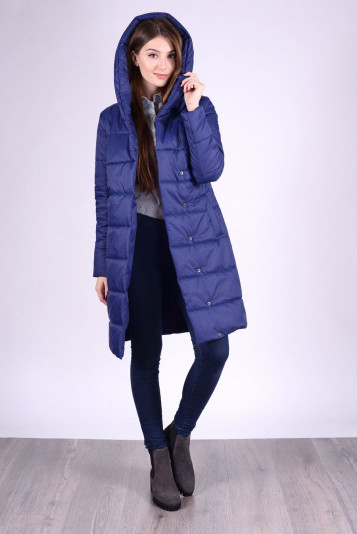 Пальто деми 93553 синее