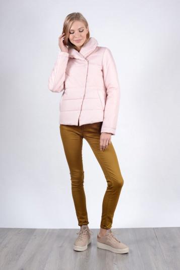 Модная курточка женская 93522 жемчужная