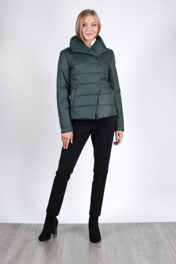 Модная курточка женская 93522 зеленая