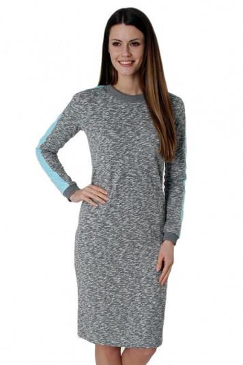 Платье меланж 7108 голубой
