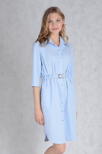 Платье 7132 голубое