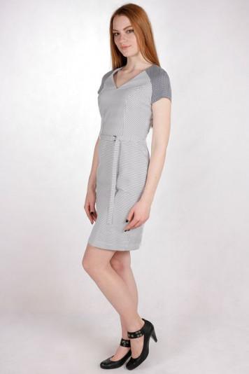 Платье 7121 полоска-клетка
