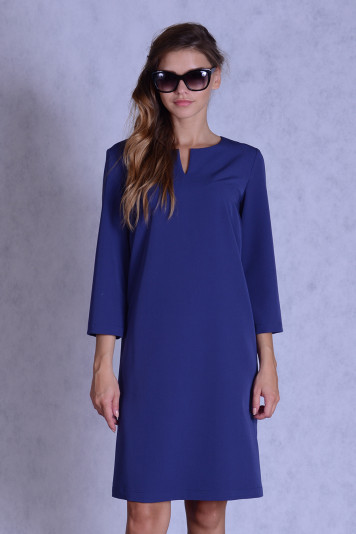 Платье 7139 синее