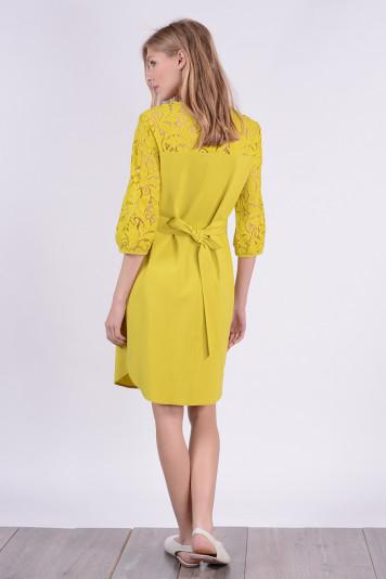 Платье 9114 желтое