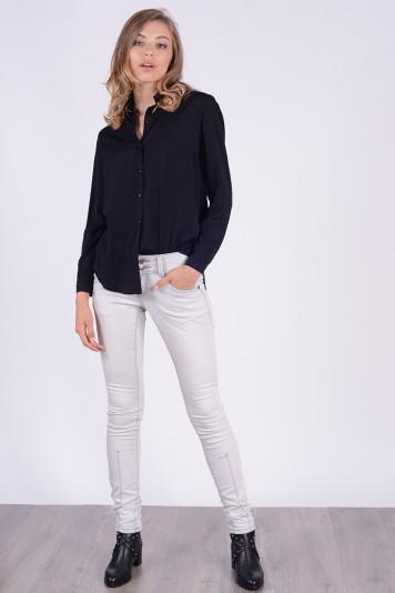 Блуза-рубашка 7134 черная