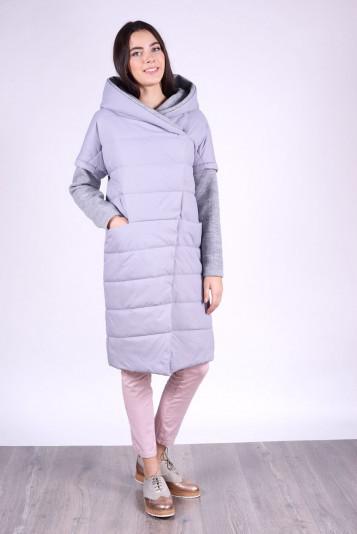 Пальто женское 93527 серое