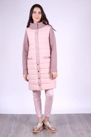 Пальто женское деми 93550 жемчужное
