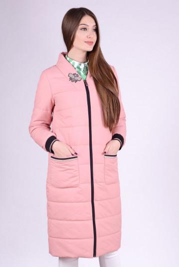 Пальто женское 93556 пудра