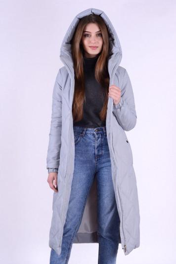 Деми пальто 93557 серый