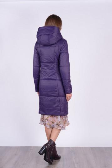 Пальто деми 93567 черника