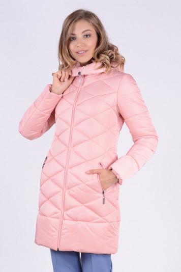 Пальто зимнее 93582 пудра