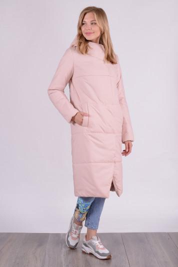 Пальто деми 99610 жемчужное