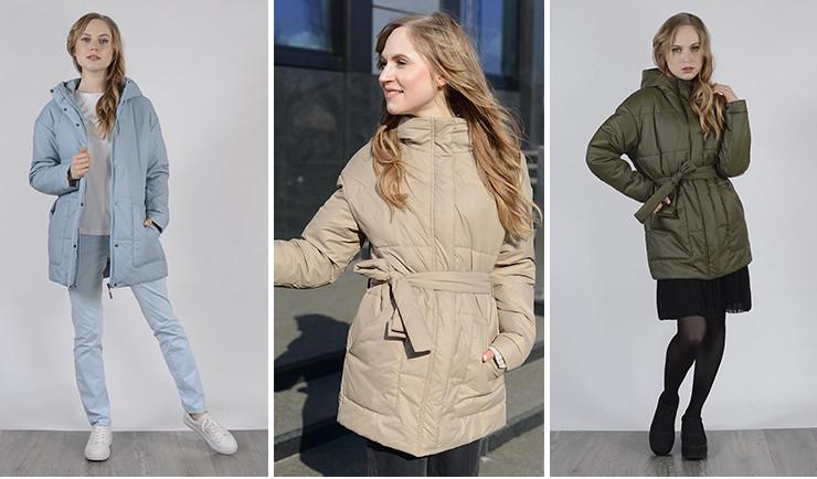 Куртка женская в стиле оверсайз с поясом