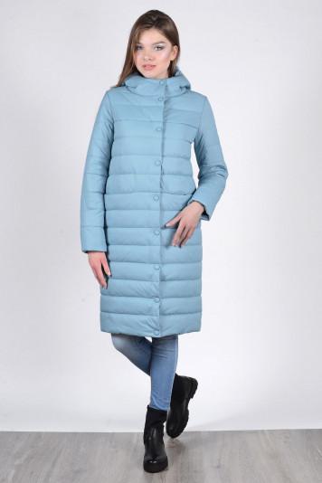 Пальто зимнее 93570 сизое