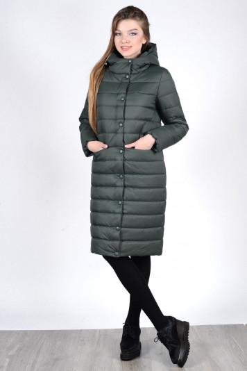 Пальто зимнее 93570 зеленое