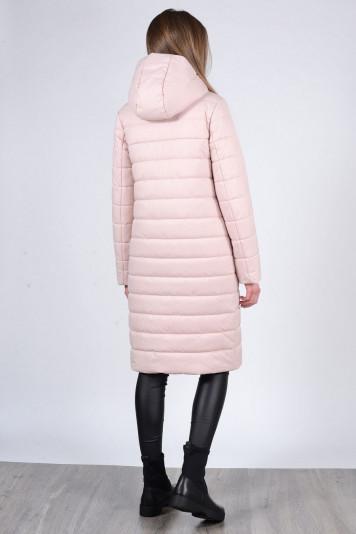 Пальто зимнее 93570 жемчужное