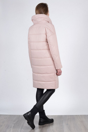Пальто зимнее 93571 жемчужное