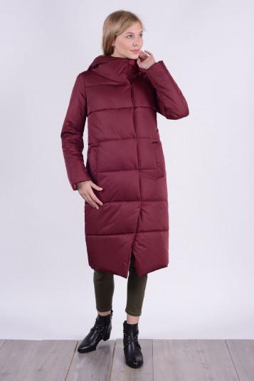 Пальто зимнее 99631 бордо