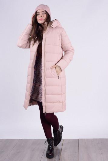 Пальто зимнее 93574 жемчужное