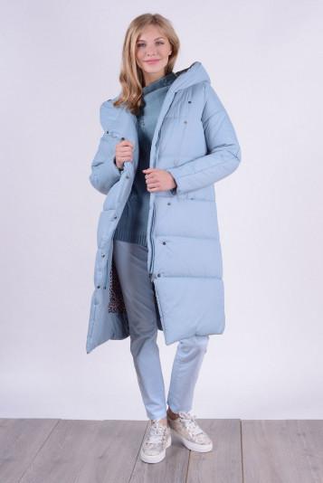 Пальто зимнее 99632 сизое