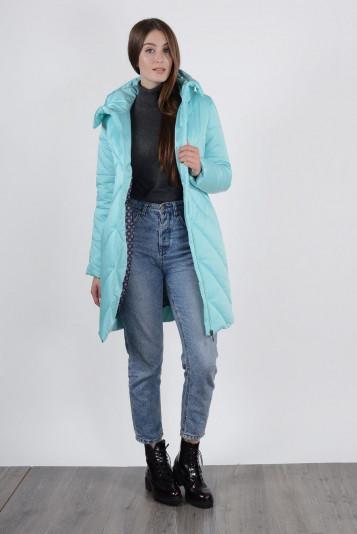 Полупальто зимнее 93576 голубой