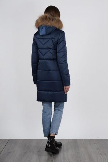 Полупальто зимнее 90576 синее