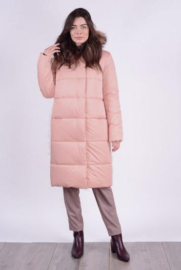Пальто зимнее 90579 пудра