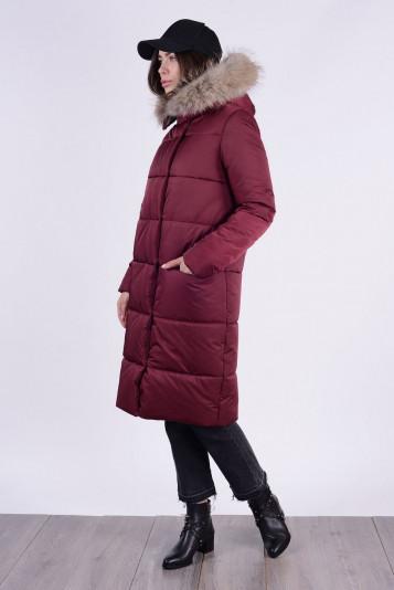 Пальто зимнее 90579 бордо
