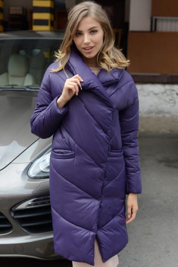 Пальто зимнее 93571 черника