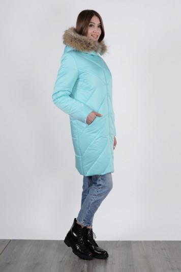 Пальто 90576 голубой