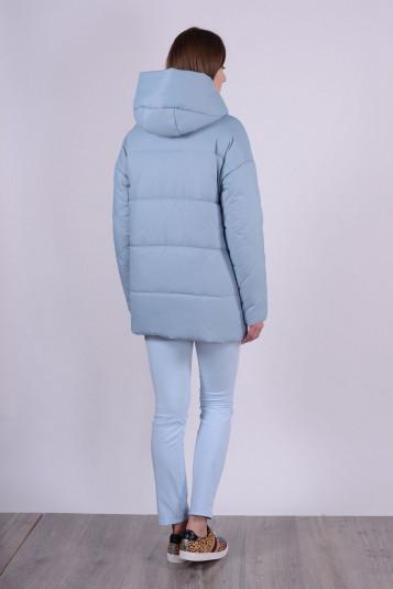 Куртка женская 93578 сизая - вид сзади