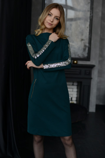 Платье 0103 изумруд
