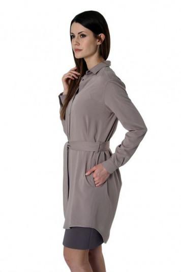 платье-рубашка + сарафан 7101.1 серые