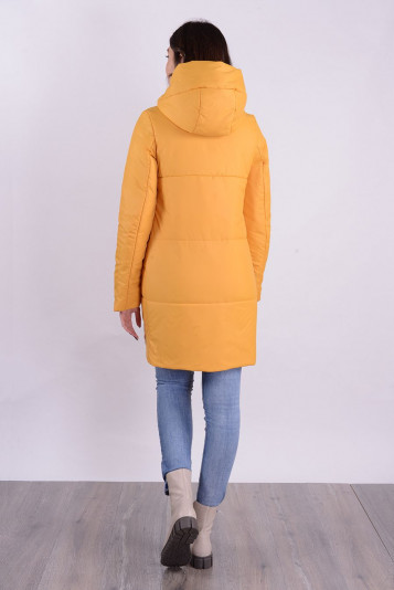 Пальто деми 99590 охра