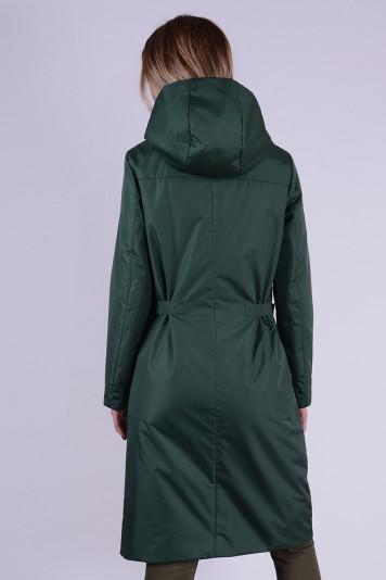 Плащ женский утепленный 99595 зеленый