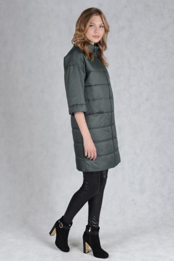 Пальто деми 99605 зеленый