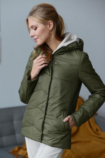 Куртка деми 99586 зеленая