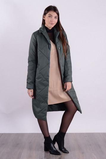 Пальто деми 99587 зеленый