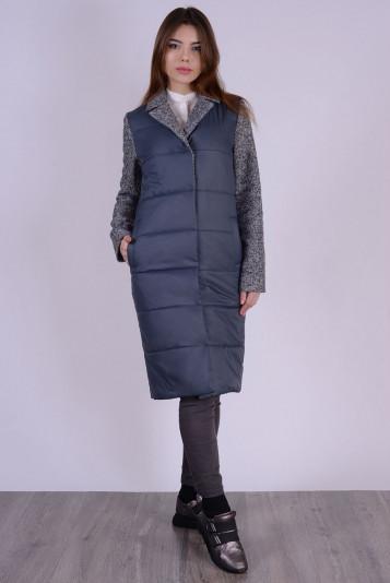 Пальто деми 99592 маренго