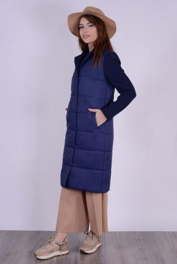 Пальто деми 99592 синее