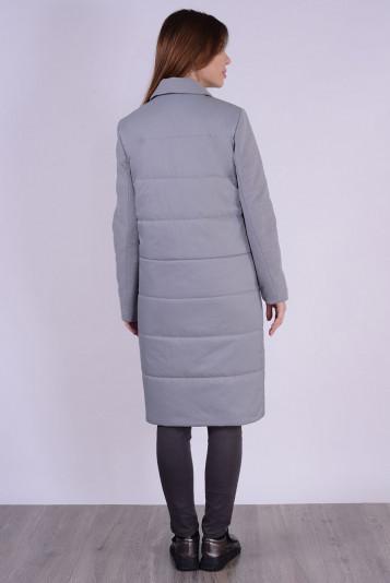 Пальто деми 99592 серый