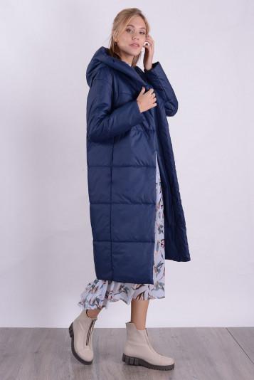 Пальто деми 99598 синее
