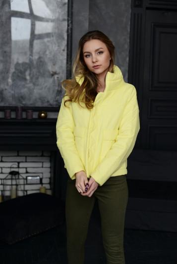 Куртка деми 99601 желтая