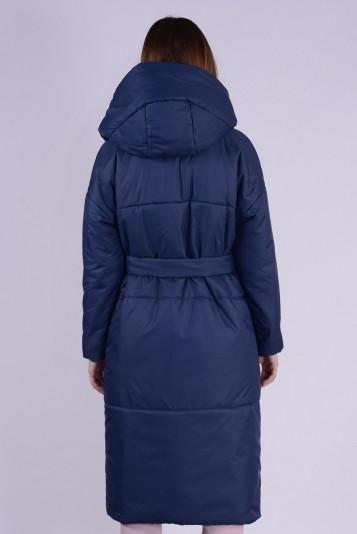 Пальто деми 99602 синее