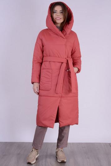 Пальто деми 99602 коралл